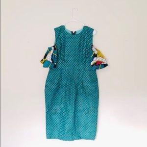 African cold shoulder dress ❤️